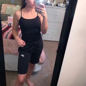 Nike Black Sweatpant Drawstring Cozy Shorts